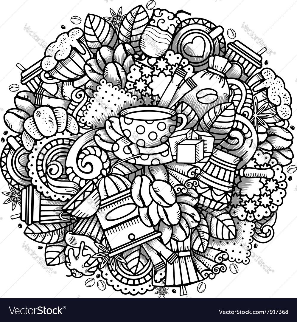 Coffee Doodle Design