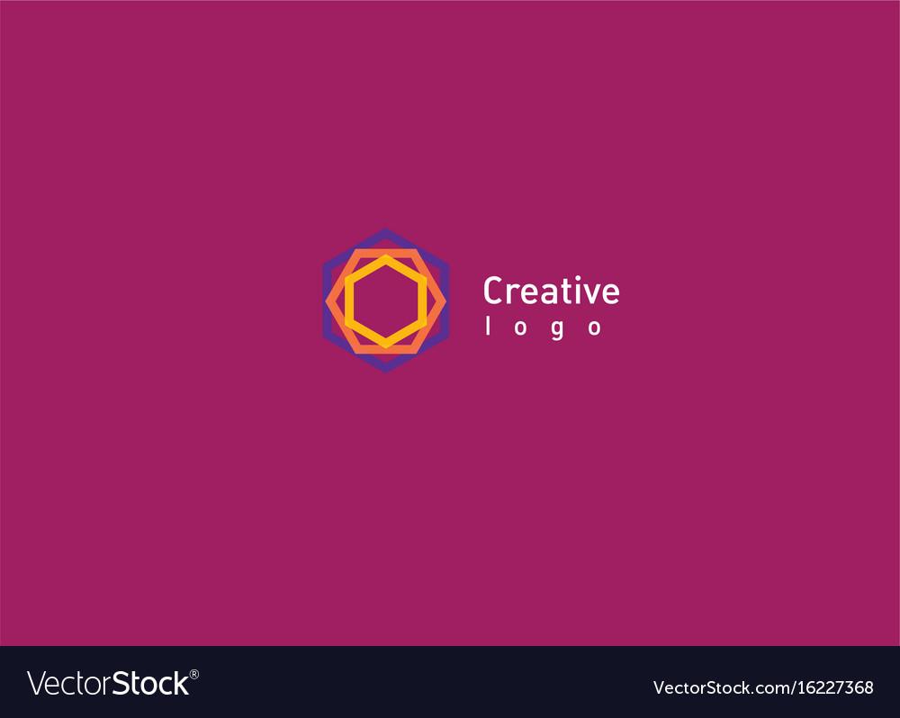 Creative abstract logo a geometric pattern