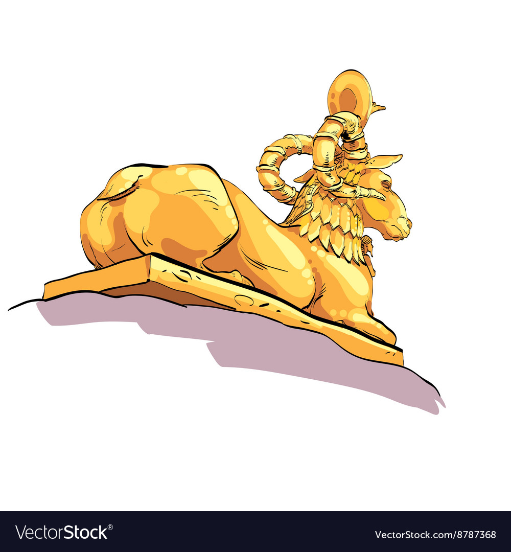 Fantastic Golden sheep from tales