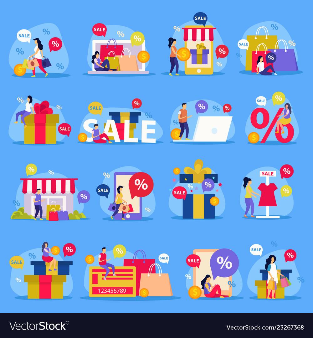 Great sale flat icon set