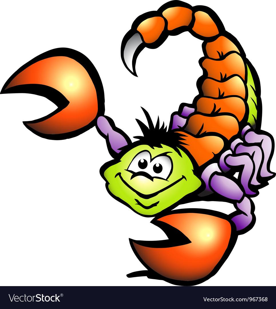 Анимация, прикольный рисунок скорпиона