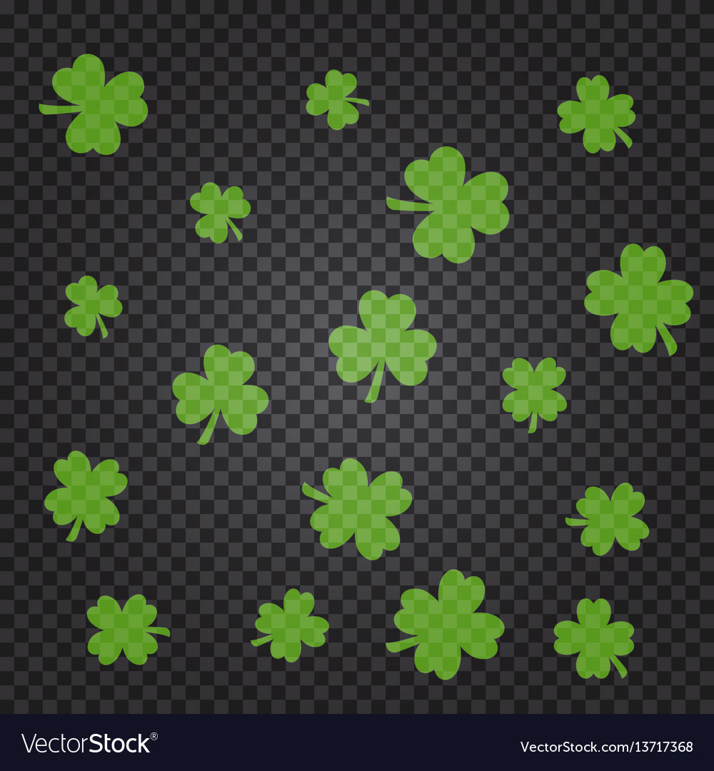 Saint patrick s day pattern with green clover
