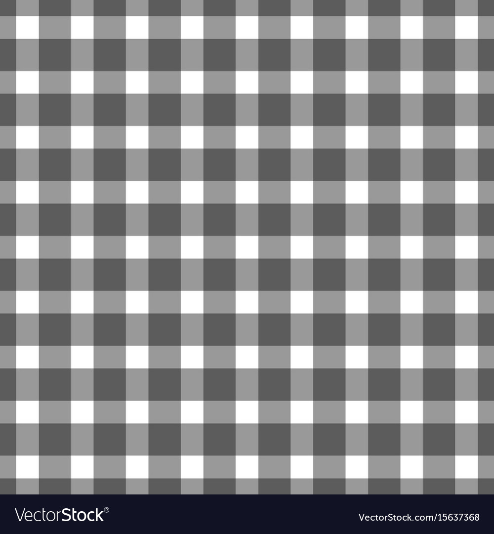 Seamless Black Colored Checkered Table Cloth Vector Image