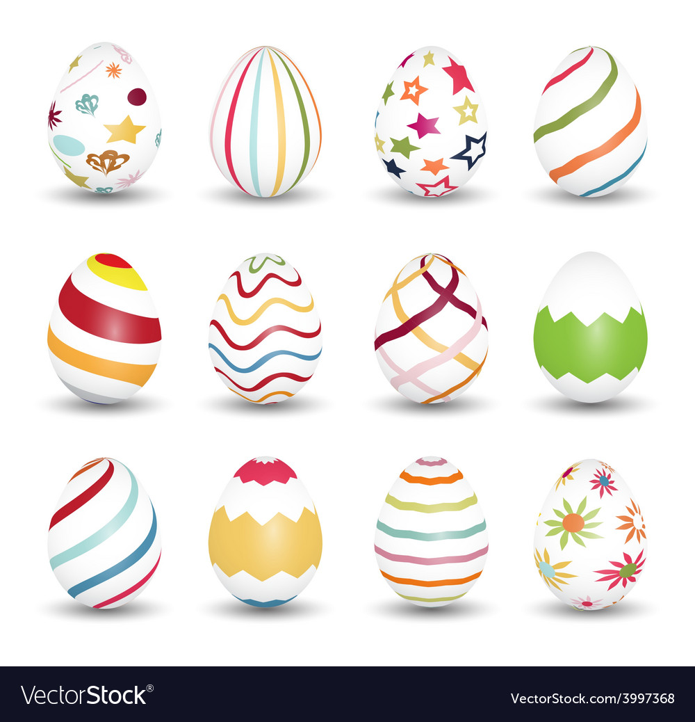 Set of easter egg icons