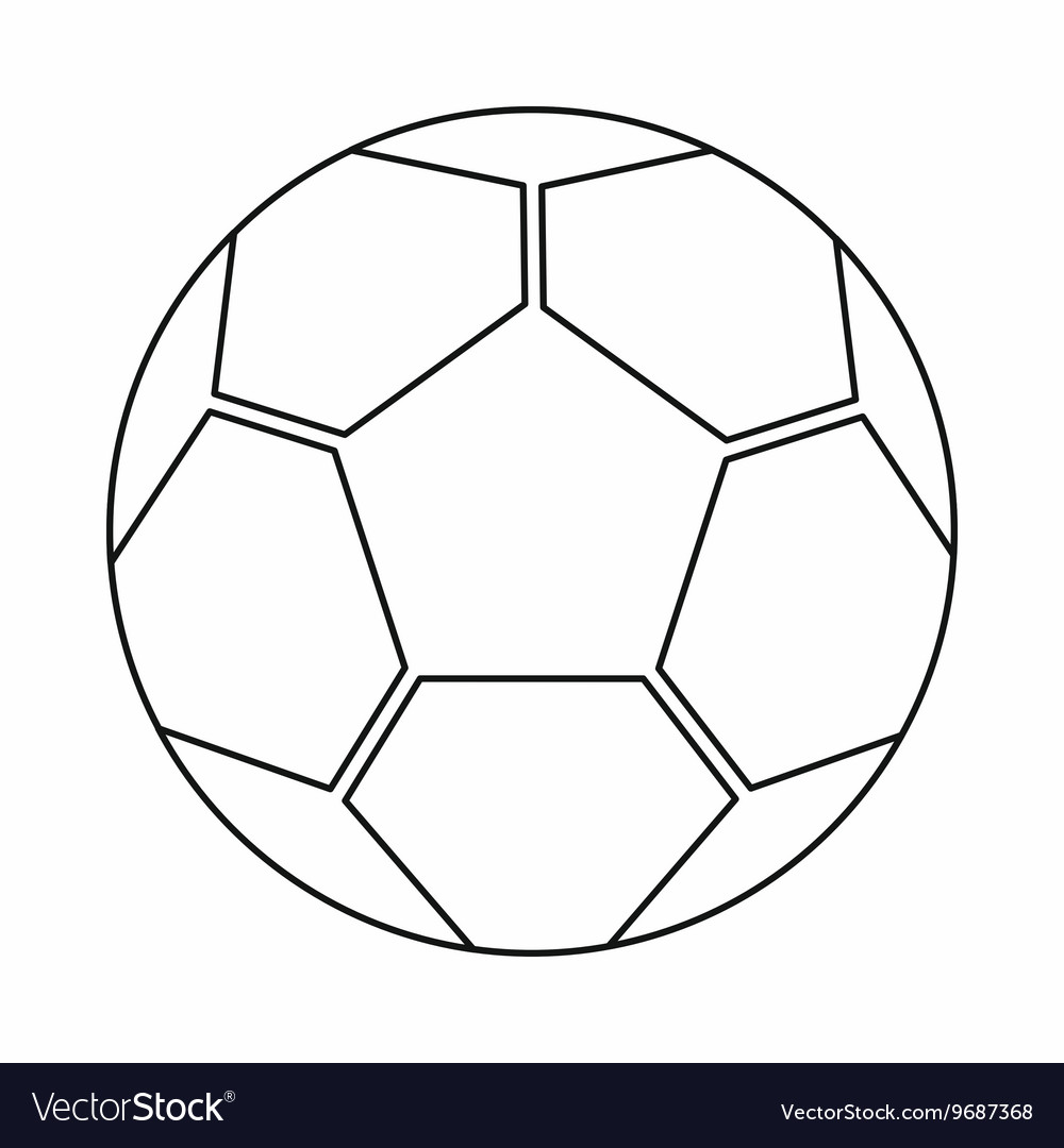 Soccer ball icon outline style