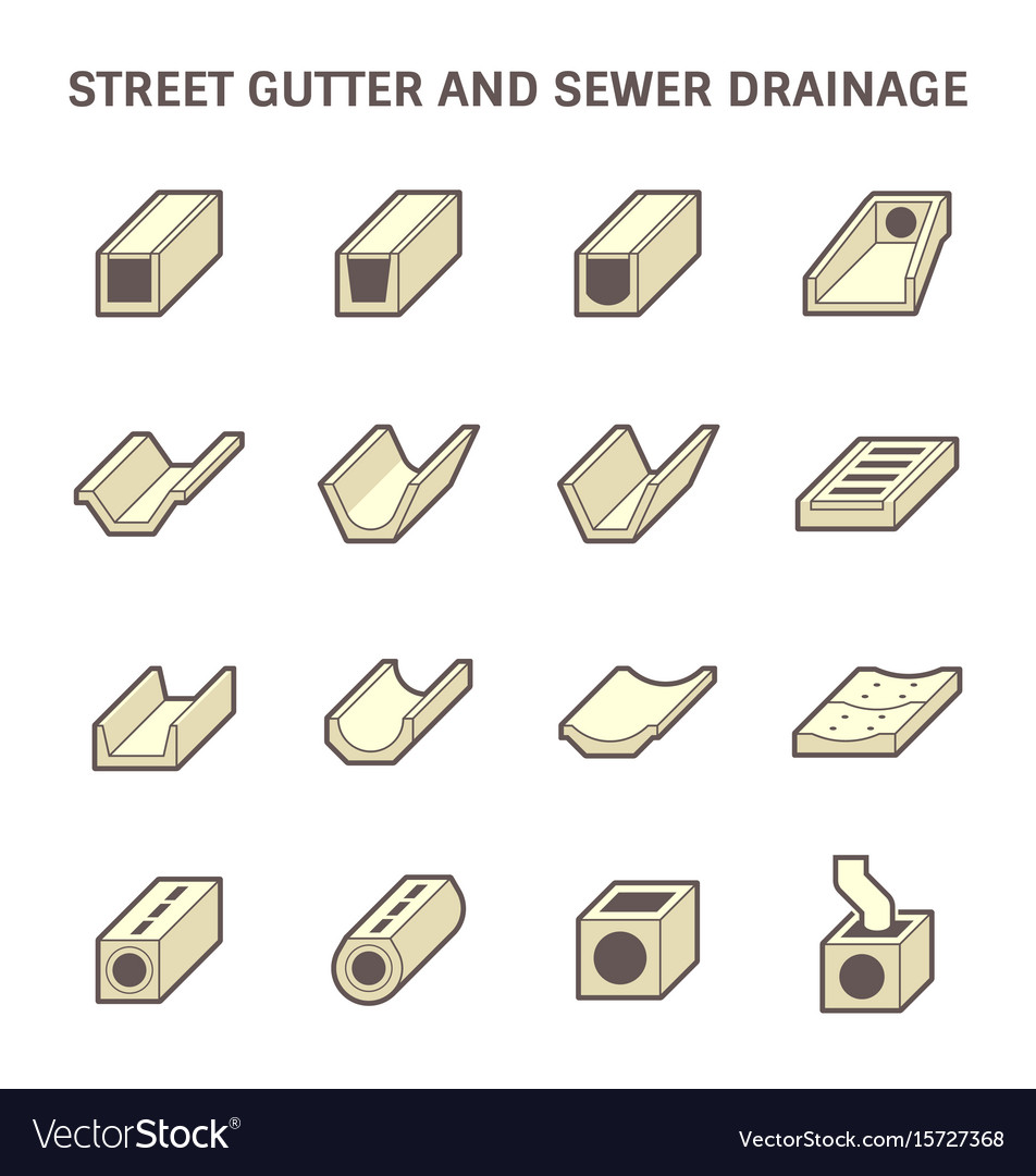Street gutter icon vector image