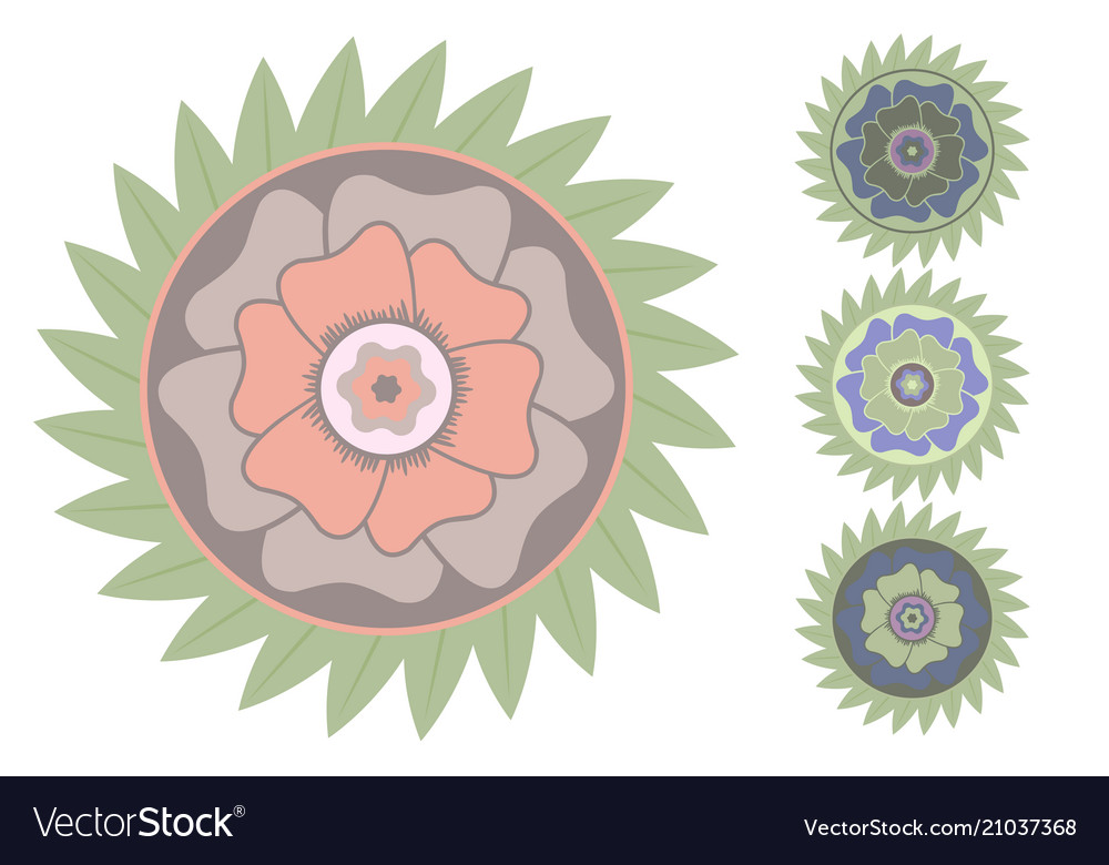 Stylized tropical flower vector image