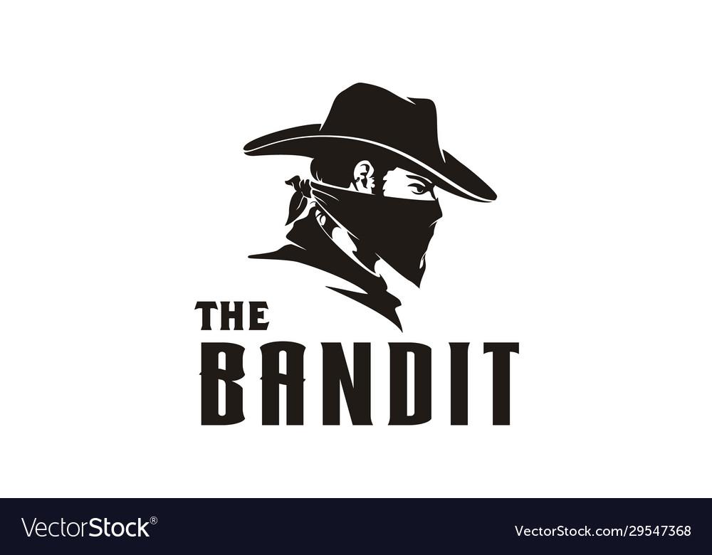 Western bandit wild west cowboy bandana mask logo