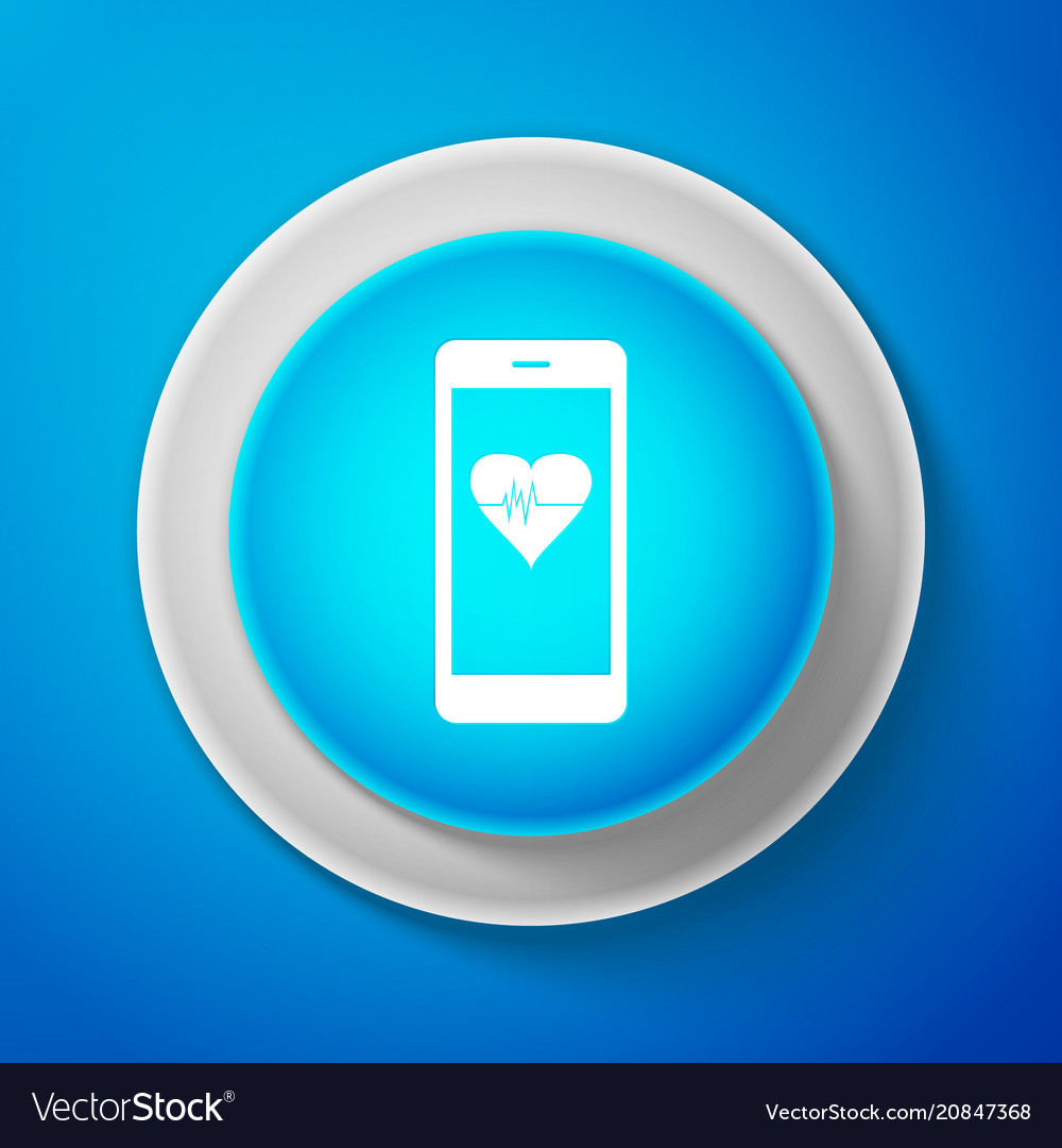 White smartphone with heart rate monitor function