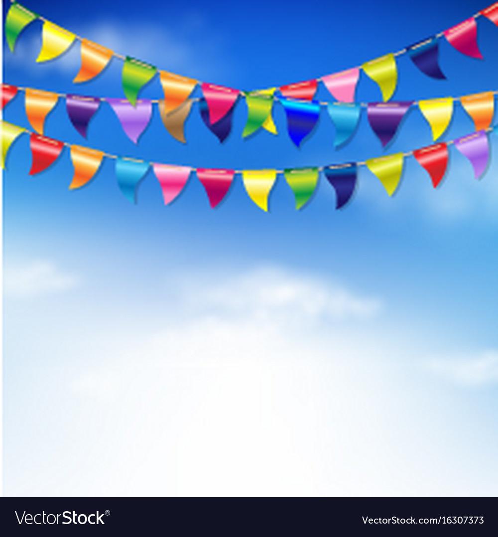 Bunting birthday flags