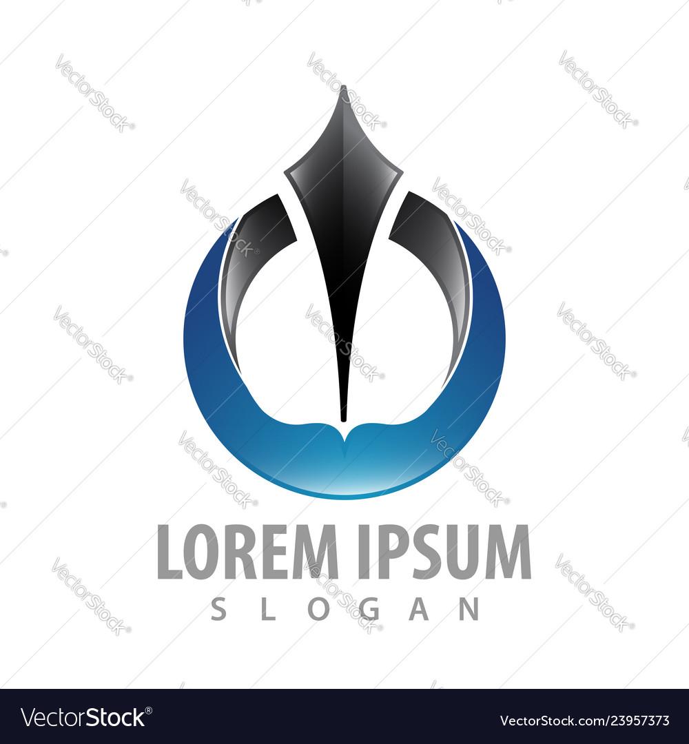 Circle write logo concept design symbol graphic