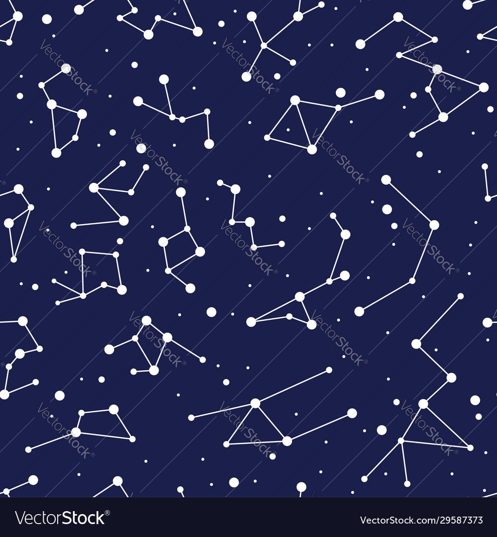 Constellation seamless background pattern zodiac