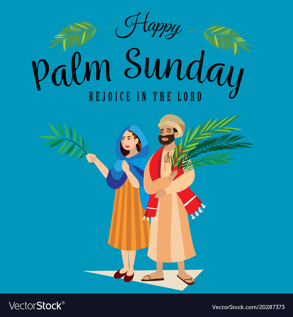 Religion holiday palm sunday before easter vector image m4hsunfo