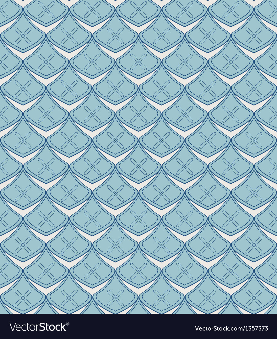 Seamless pattern with geometric abstract shapes