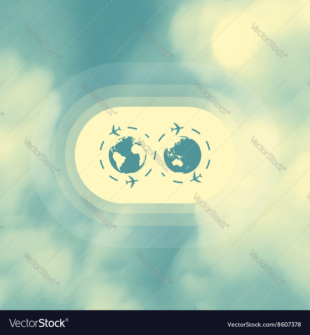Abstract background with blue sky and clouds