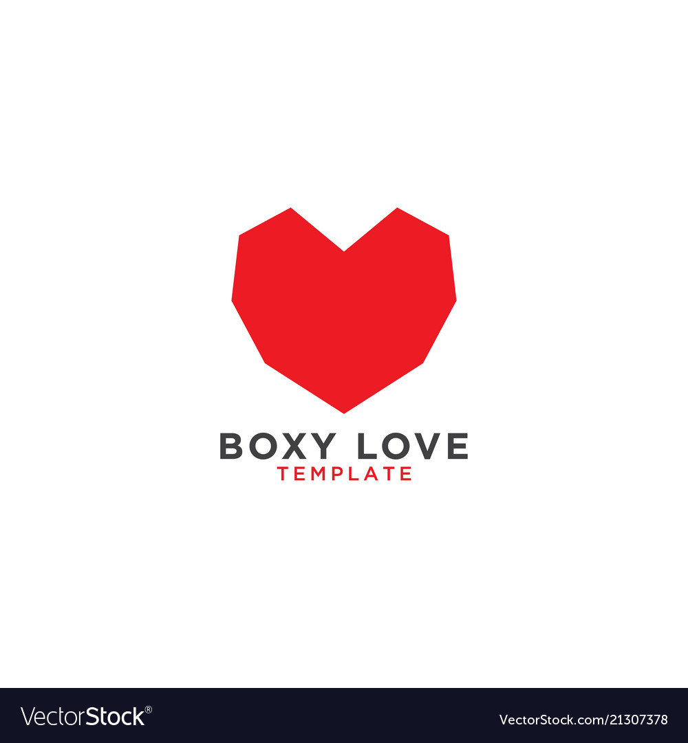 Boxy love graphic design template