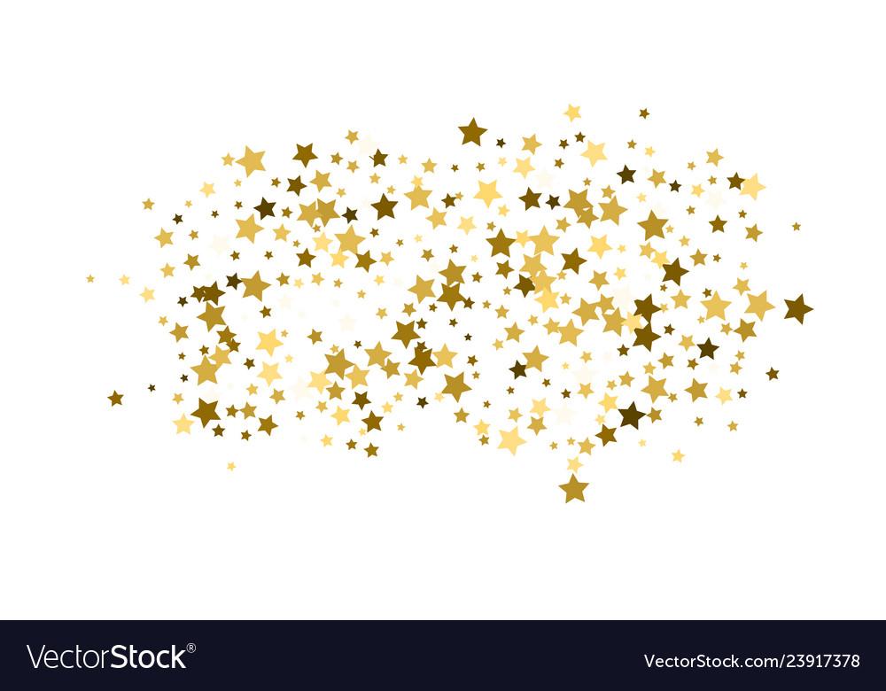 Gold stars confetti celebration falling golden