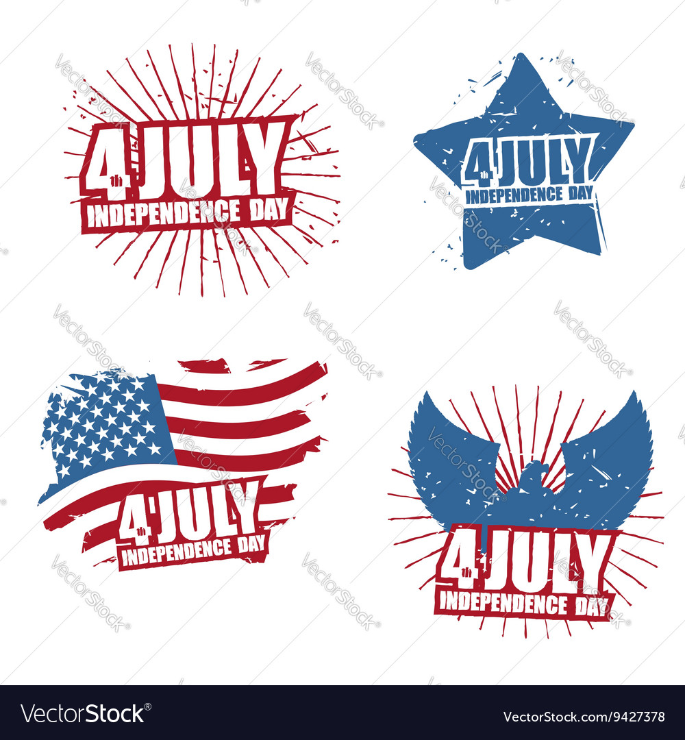 Grunge sign for Independence Day in America Star