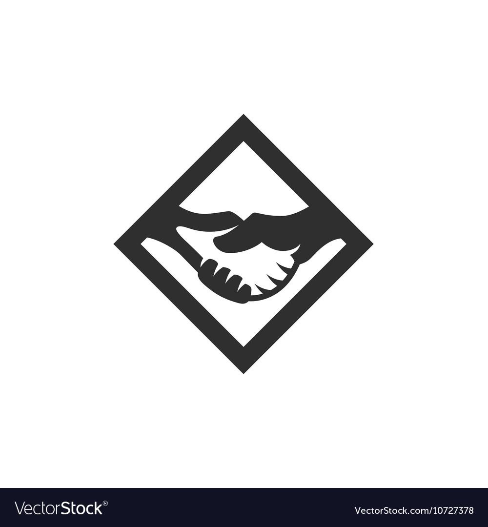 Handshake icon isolated on a white background