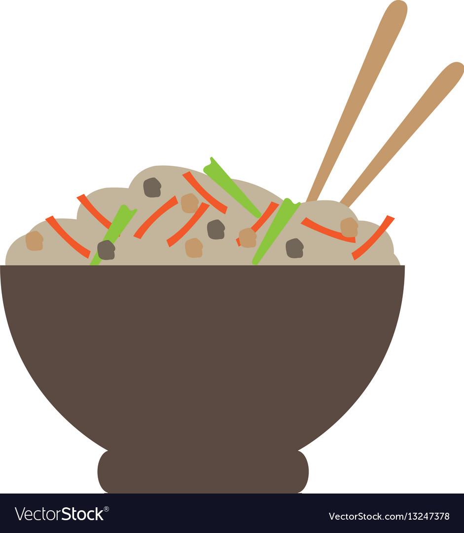 Isolated ramen bowl