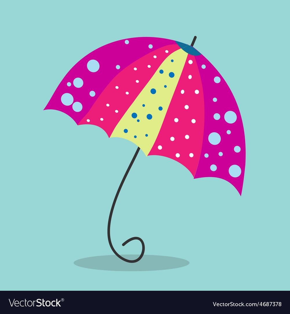 Multicolored umbrella-cane - a symbol of summer
