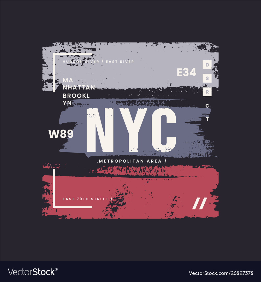 New york city grunge stylized graphic t-shirt