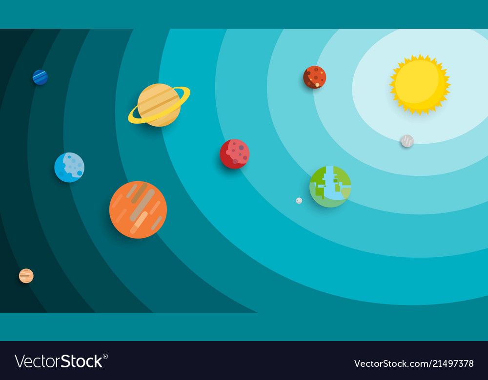 Planet in solar system background use for