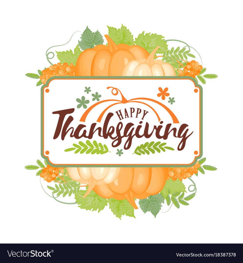 Thanksgiving typographyhappy thanksgiving day