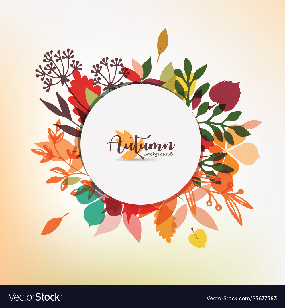 Autumn leaves stylized background autumn seasonal