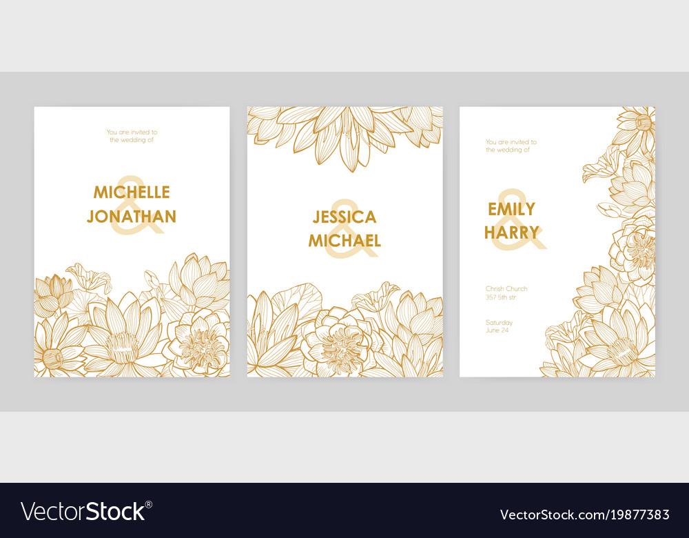 Bundle Of Wedding Invitation Card Templates