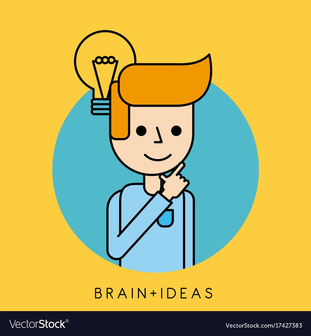 Character idea brain innovation concept