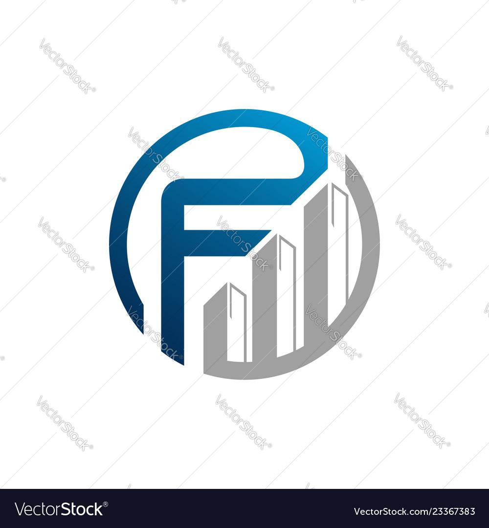 Creative letter f square logo template logo for