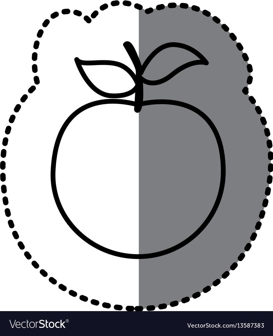 Figure apple fruit icon vector image