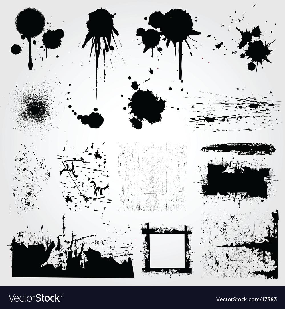 Graphic grunge set vector image