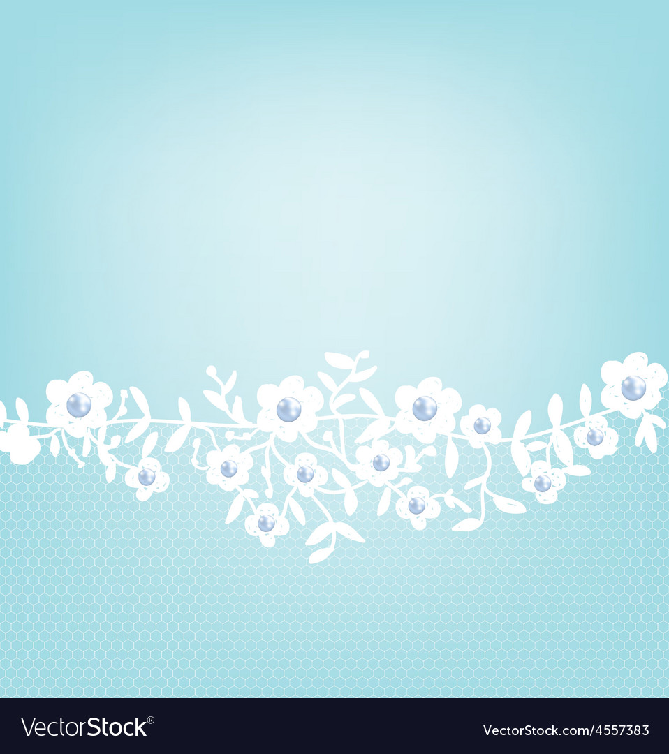lace border on blue background royalty free vector image