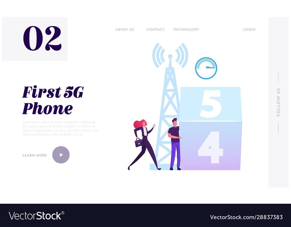 Online communication 4g 5g internet connection