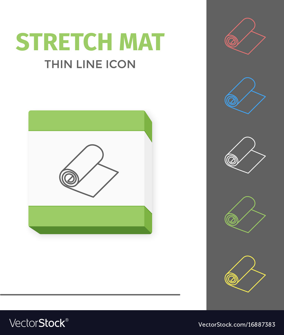Simple line stroked stretch exercise mat