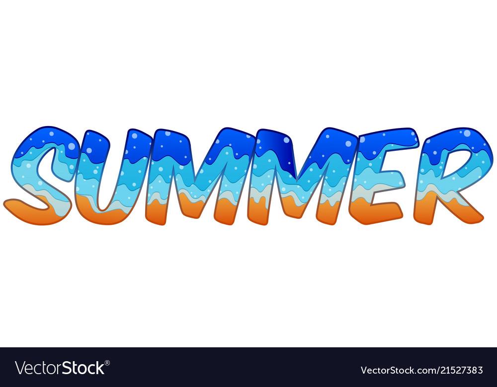 Summer holiday text