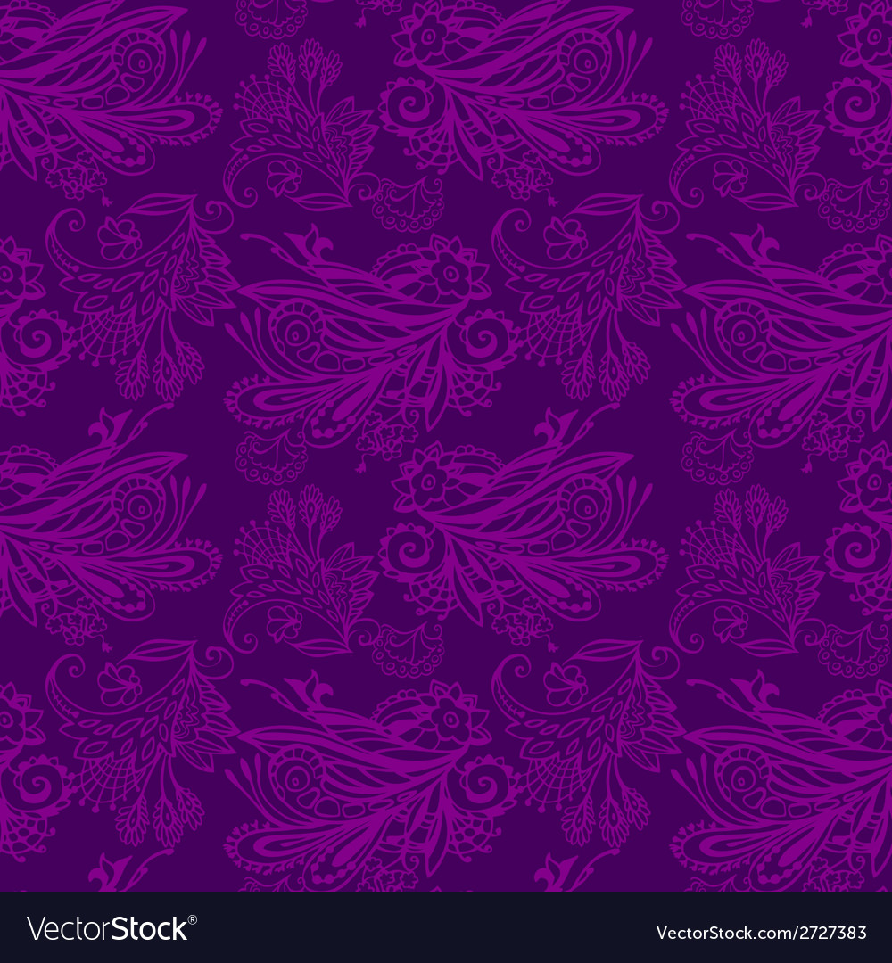 Violet floral seamless pattern