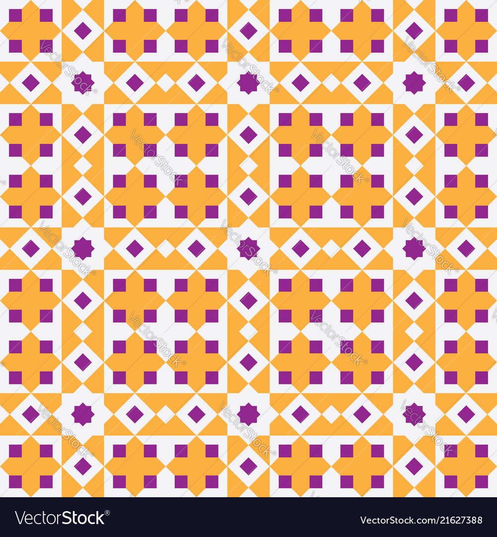 Abstract colorful seamless islamic pattern