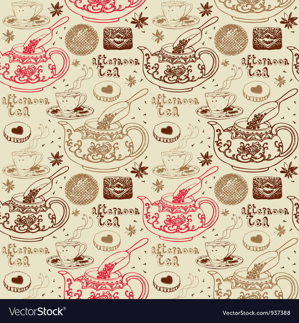 Afternoon Tea Background Pattern