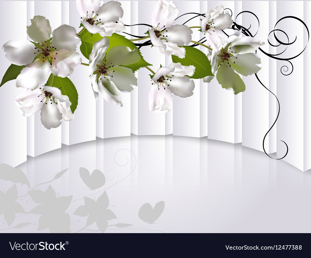 Background with flowers Apple tree