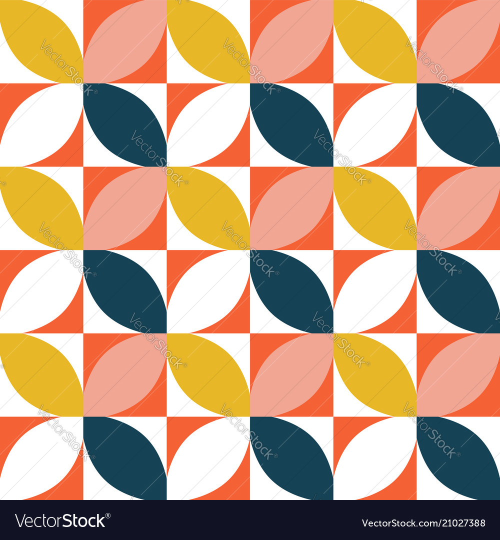 Colorful geometric seamless pattern mid century