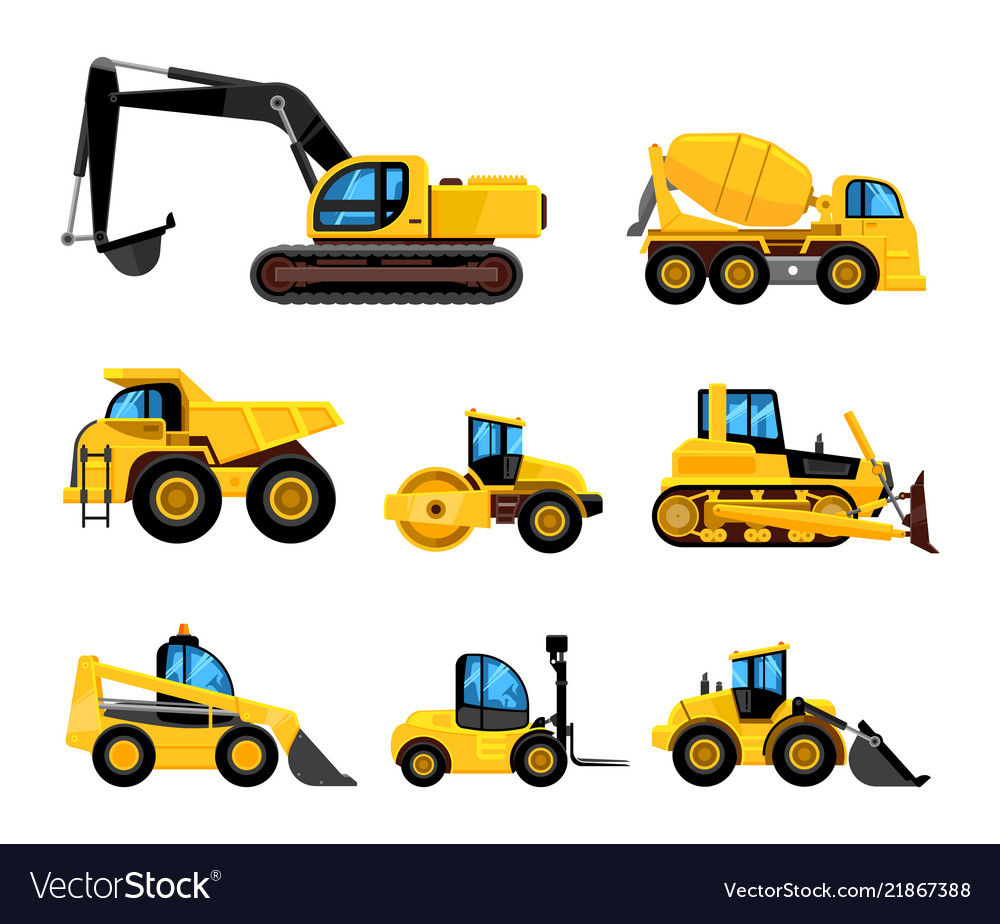 Construct machines heavy machinery vehicles large