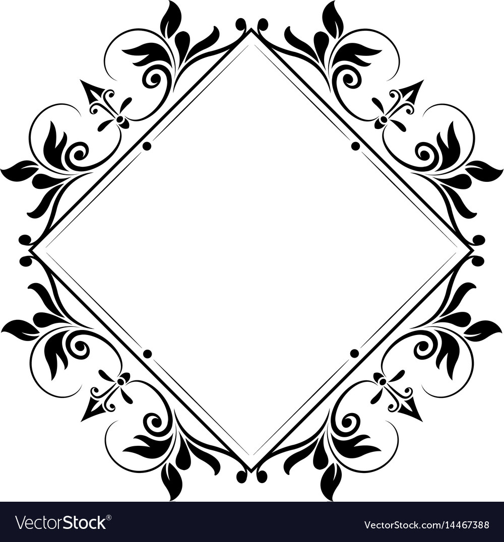 Decorative frame vintage elegant flourish image