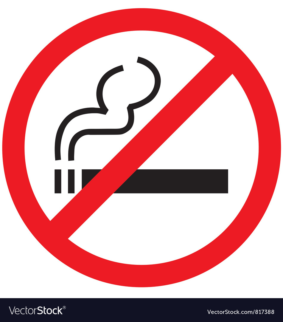 no smoking sign royalty free vector image vectorstock rh vectorstock com no smoking logo images no smoking logo eps