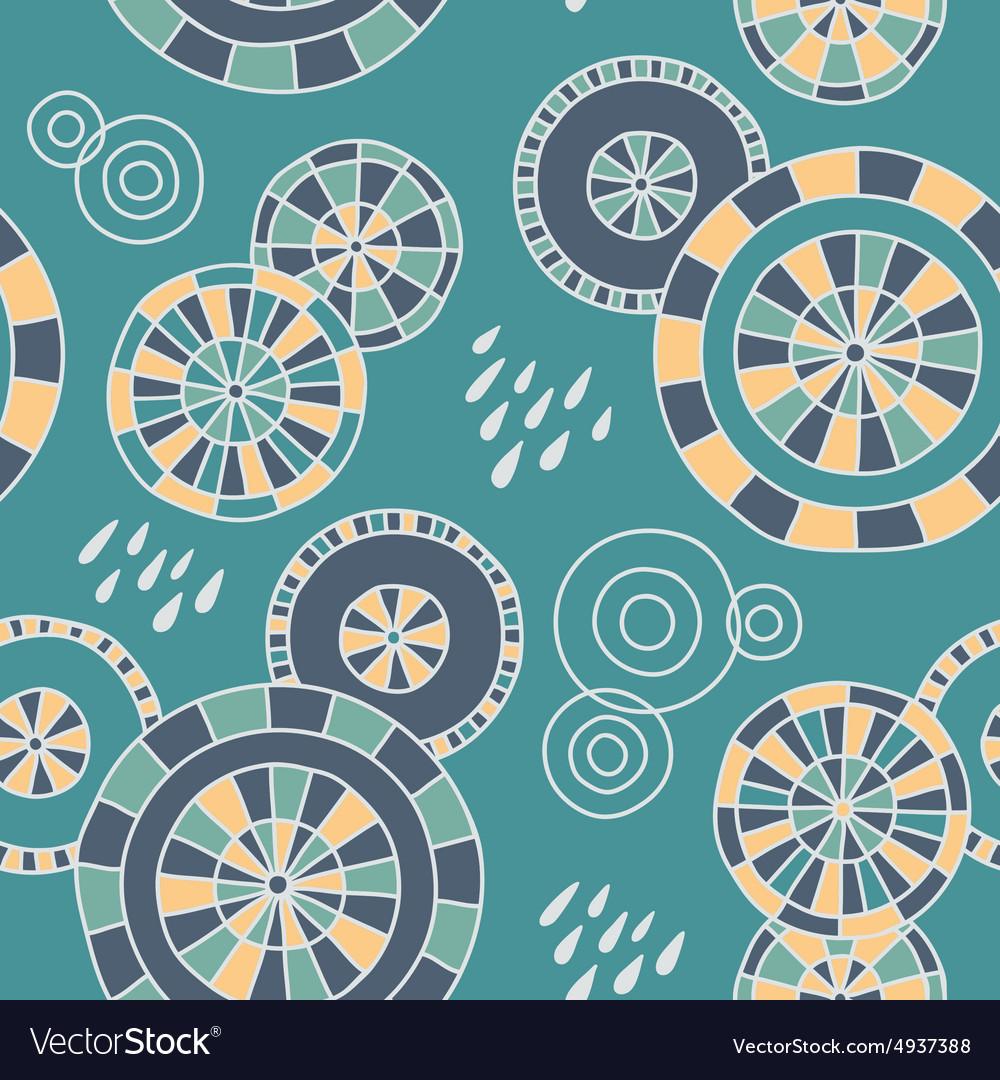 Rain in Kyoto - seamless pattern