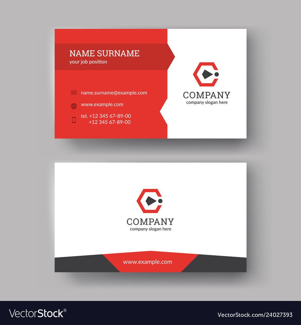 Business card templates Royalty Free Vector Image