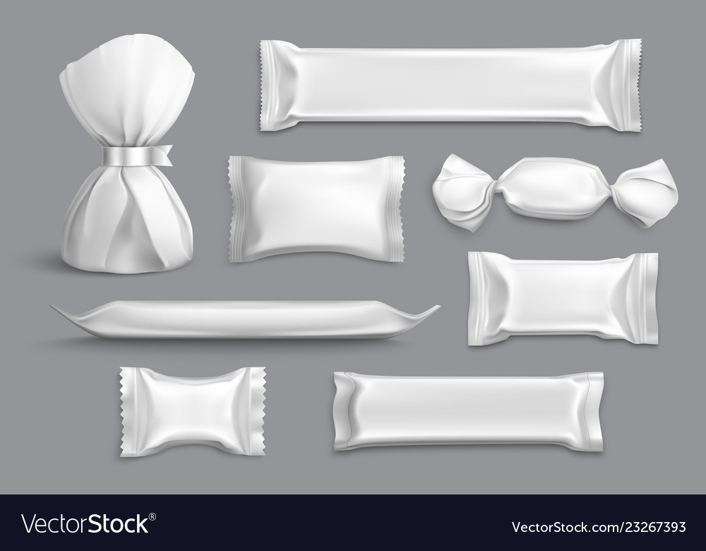 Candy packaging realistic blank