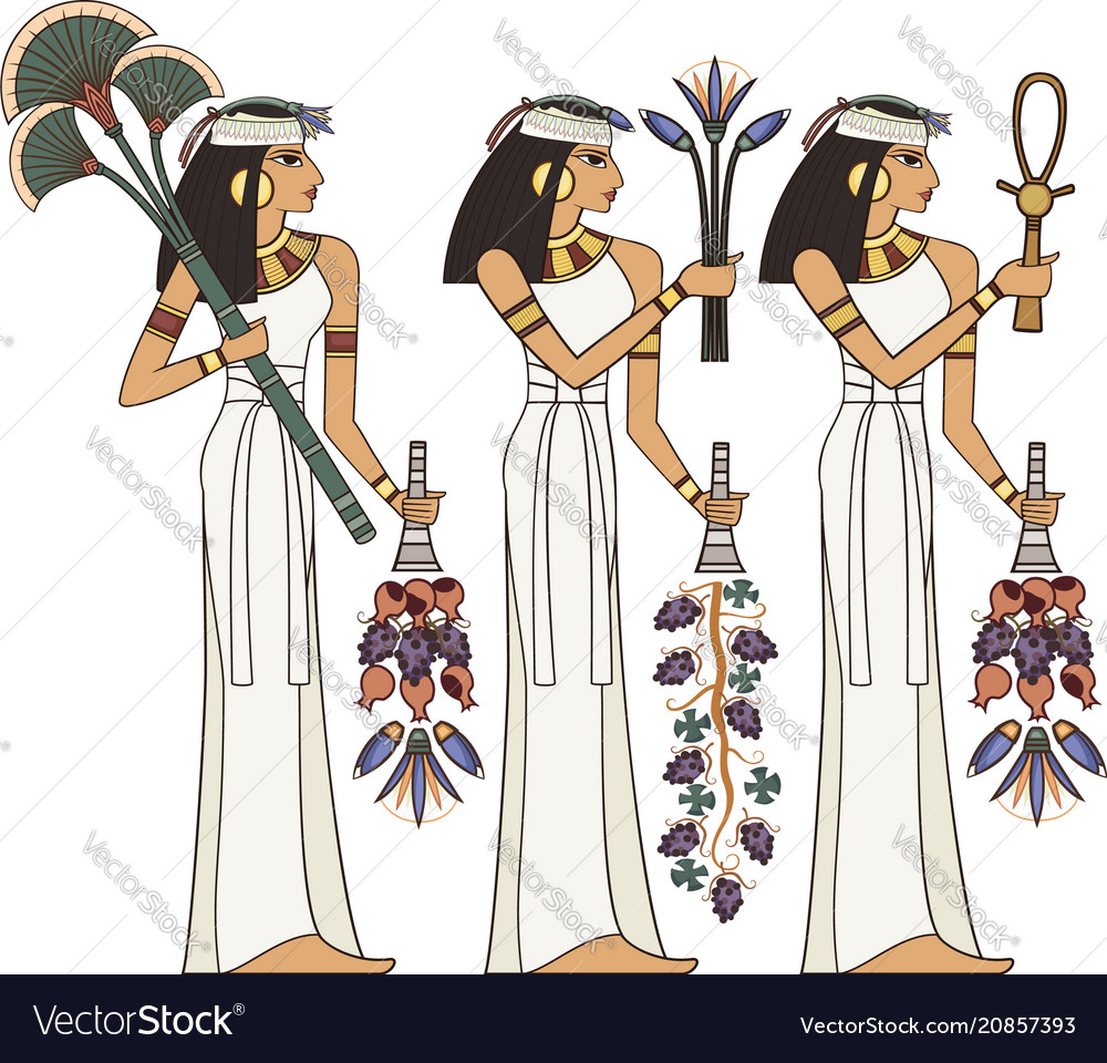 Egyptian Hieroglyph And Symbol Royalty Free Vector Image